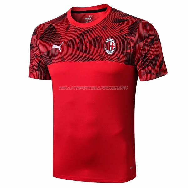 maillot training ac milan rouge 2019-2020