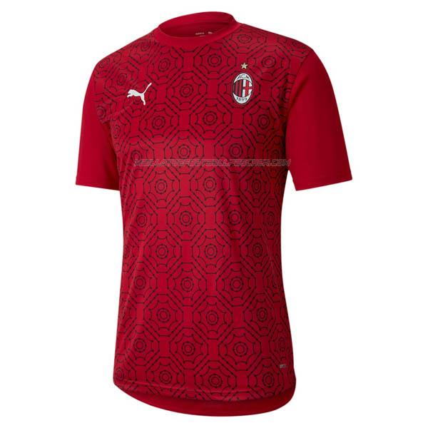 maillot training ac milan rouge 2020-21