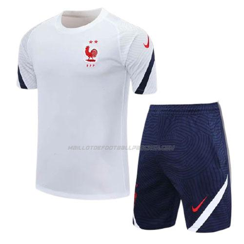 maillot training et pantalons france blanc 2020-21