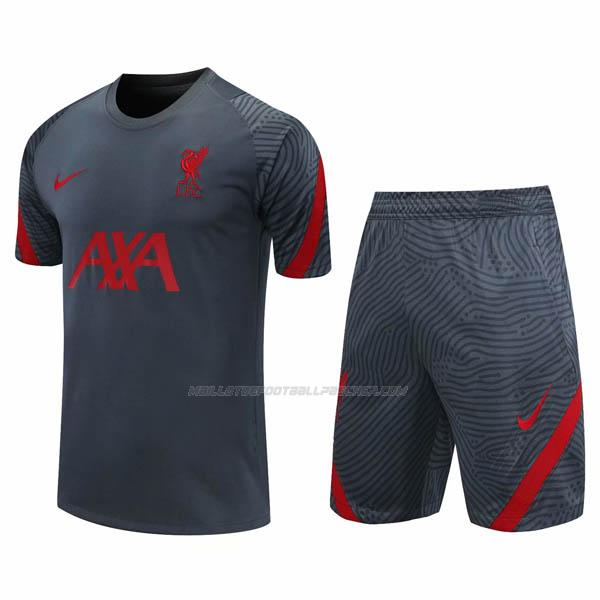 maillot training et pantalons liverpool gris oscuro 2020-21