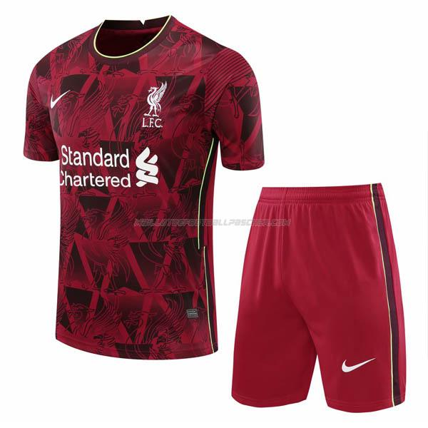 maillot training et pantalons liverpool rouge 2020-21