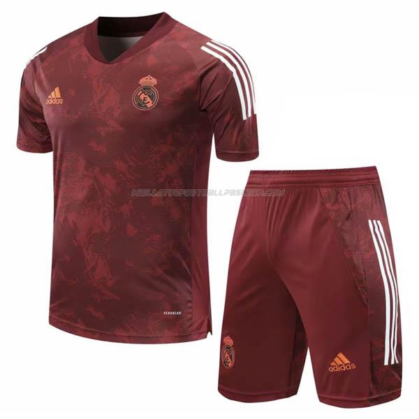 maillot training et pantalons real madrid rouge 2020-21