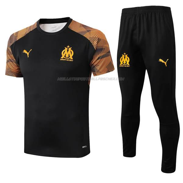maillot training marseille noir 2019-2020