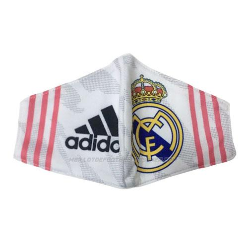 masque de protection real madrid blanc 2020-21