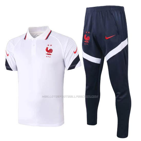 polo et pantalons france blanc 2020-2021