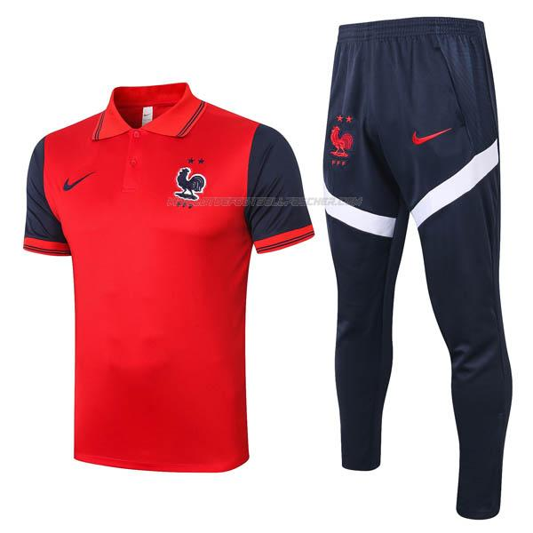 polo et pantalons france rojo 2020-21