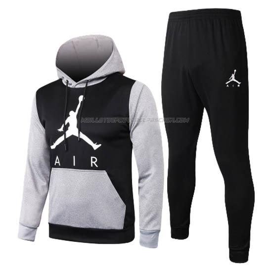 survetement à capuche air jordan gris-noir 2020-21