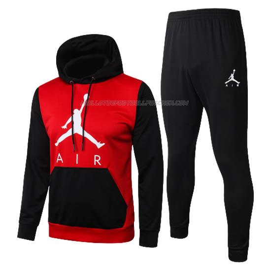 survetement à capuche air jordan noir rouge 2020-21