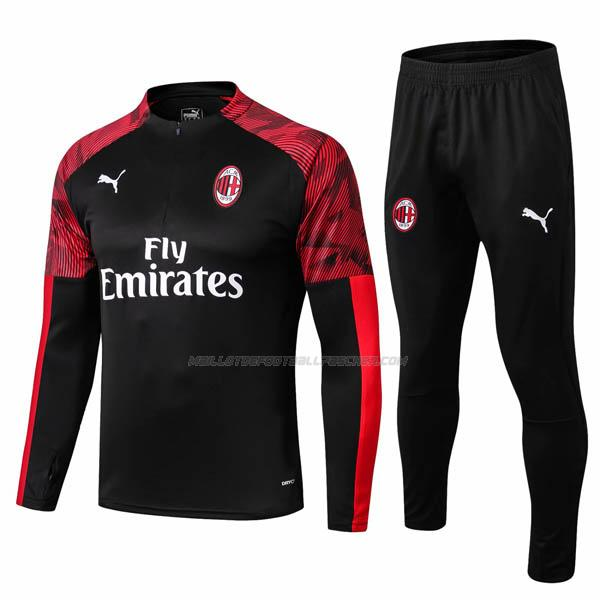 survetement ac milan noir rouge 2019-2020