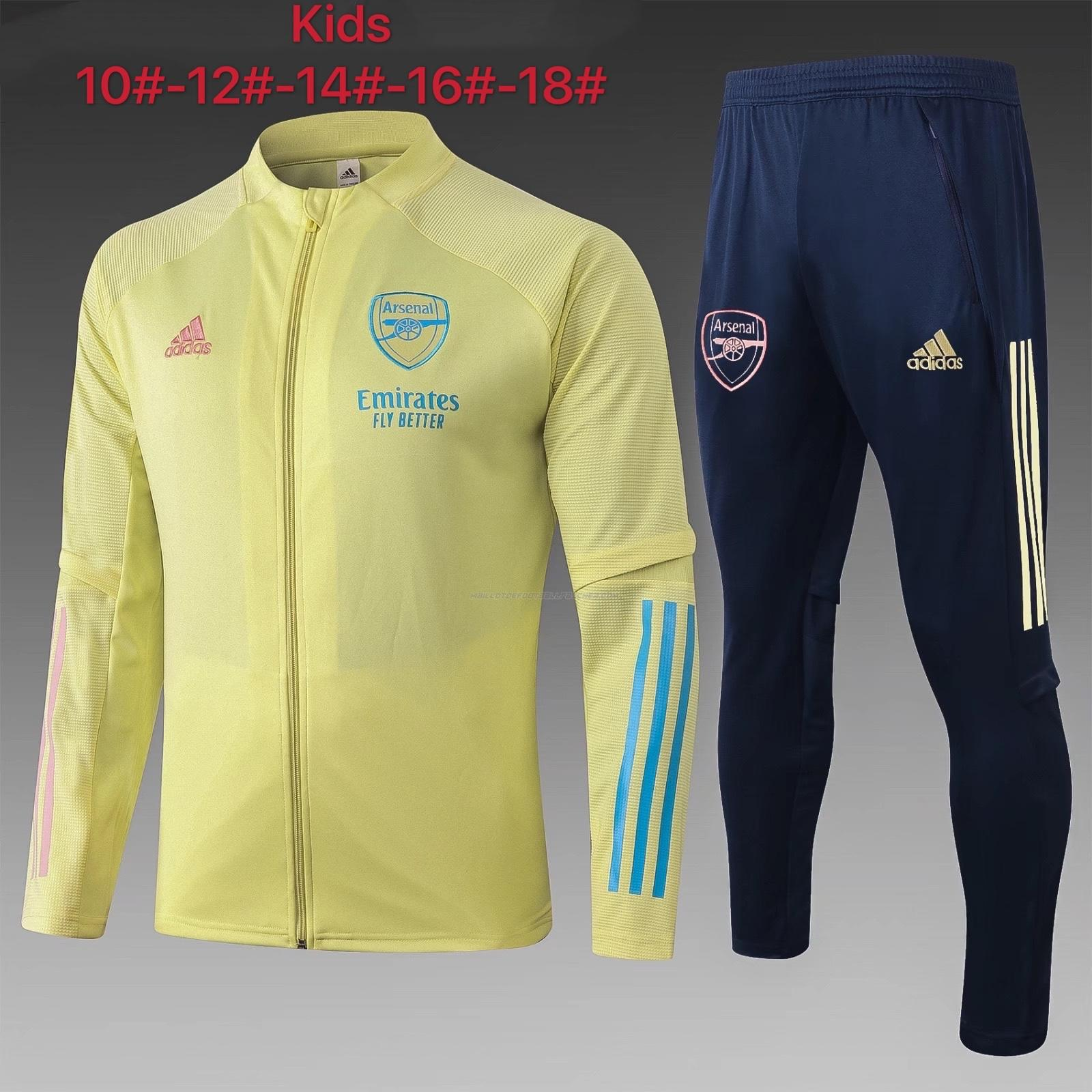 veste enfant arsenal jaune 2021