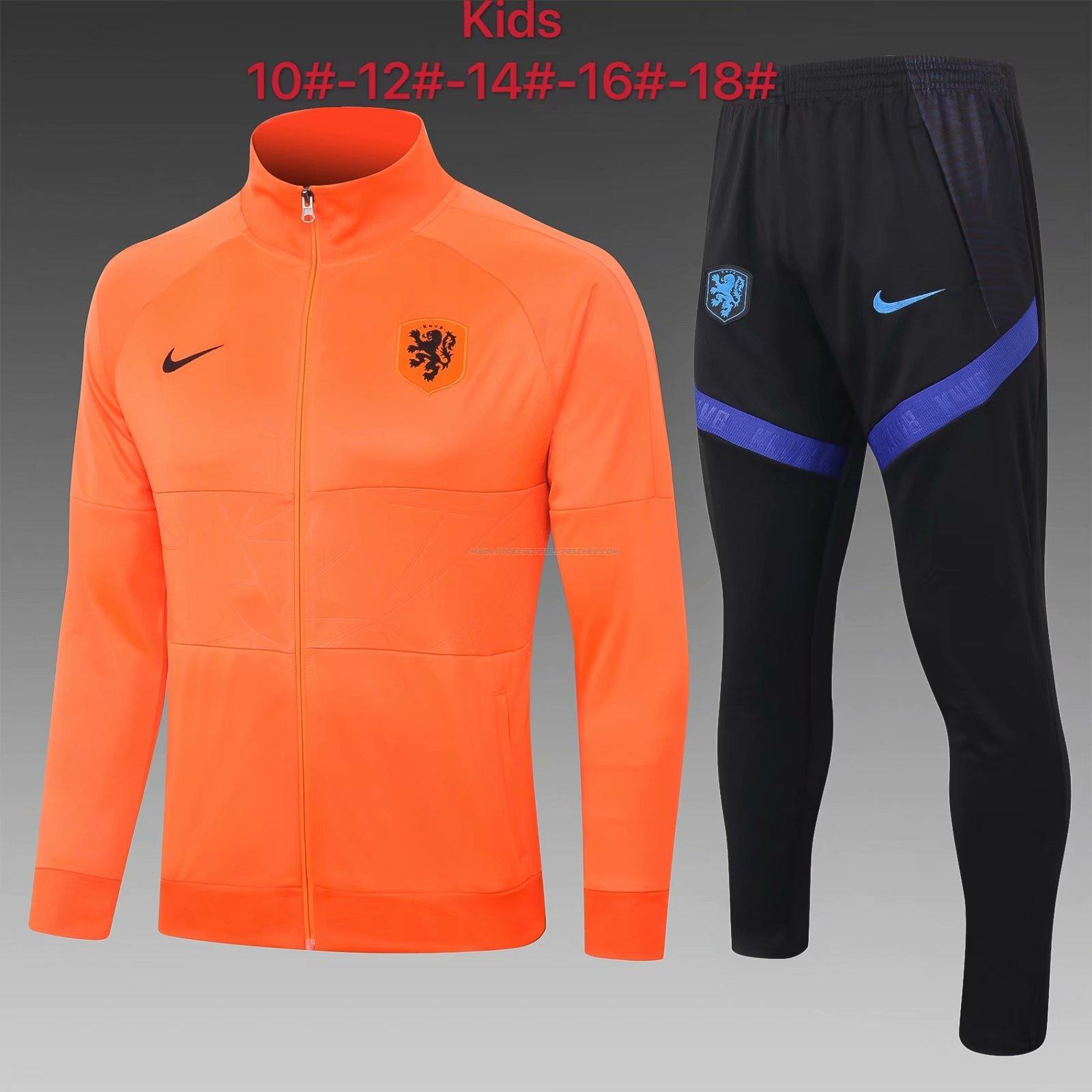 veste enfant hollande orange 2021